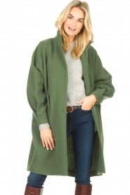 American Vintage    High collar jacket Abel   green    Picture 5