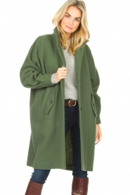 American Vintage    High collar jacket Abel   green    Picture 2