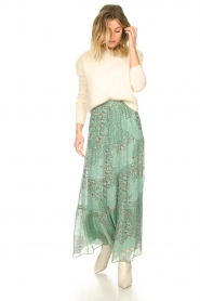 ba&sh |  Maxi skirt with lurex Obbie | blue  | Picture 4