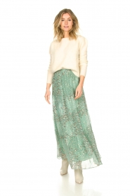 ba&sh |  Maxi skirt with lurex Obbie | blue  | Picture 3