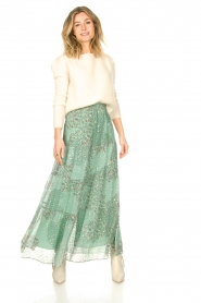 ba&sh |  Maxi skirt with lurex Obbie | blue  | Picture 2