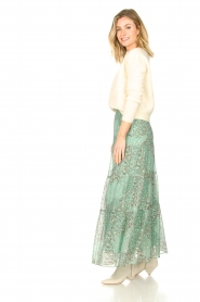 ba&sh |  Maxi skirt with lurex Obbie | blue  | Picture 5