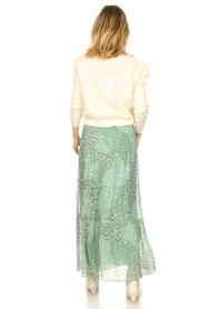 ba&sh |  Maxi skirt with lurex Obbie | blue  | Picture 6