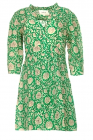 ba&sh |  Dress with floral print Paz | green  | Picture 1