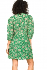 ba&sh :  Dress with floral print Paz | green - img7