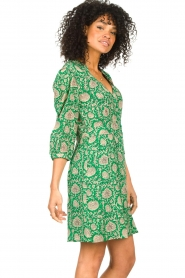 ba&sh :  Dress with floral print Paz | green - img6