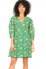 ba&sh :  Dress with floral print Paz | green - img2