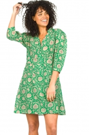 ba&sh :  Dress with floral print Paz | green - img4