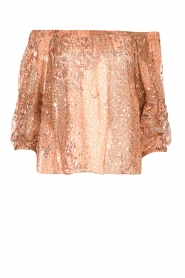 ba&sh |  Boat neck top with lurex Olga | brown  | Picture 1