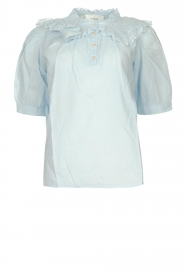 ba&sh |  Cotton sailors blouse Iseut | blue  | Picture 1