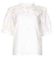 ba&sh |  Cotton sailor blouse Iseut | white  | Picture 1
