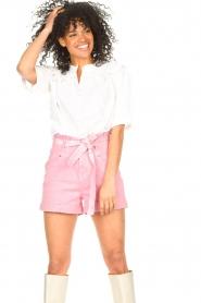 ba&sh |  Cotton sailor blouse Iseut | white  | Picture 5
