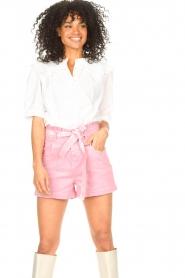 ba&sh |  Cotton sailor blouse Iseut | white  | Picture 4