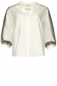 ba&sh |  Embroidered cotton blouse Divine | white  | Picture 1