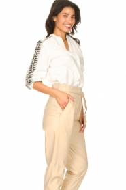 ba&sh |  Embroidered cotton blouse Divine | white  | Picture 6