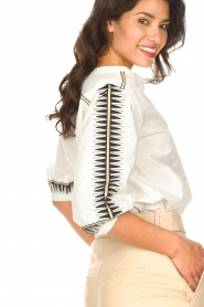 ba&sh |  Embroidered cotton blouse Divine | white  | Picture 8