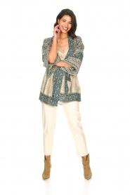 ba&sh |  Kimono with floral print Toam | blue  | Picture 3