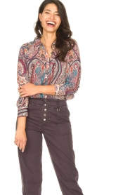ba&sh |  Paisley print blouse Blake | pink  | Picture 2