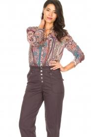 ba&sh |  Paisley print blouse Blake | pink  | Picture 4