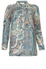 ba&sh | Blouse met paisleyprint Blake | blauw   | Afbeelding 1