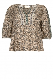 ba&sh |  Top with floral print Tobias | blue  | Picture 1