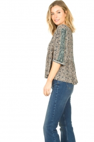 ba&sh |  Top with floral print Tobias | blue  | Picture 6