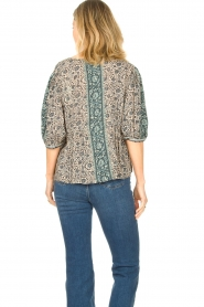 ba&sh |  Top with floral print Tobias | blue  | Picture 7