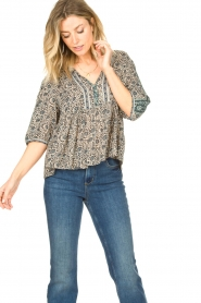 ba&sh |  Top with floral print Tobias | blue  | Picture 4