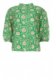 ba&sh |  Blouse with print Panama | green  | Picture 1