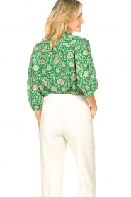 ba&sh |  Blouse with print Panama | green  | Picture 7