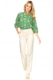 ba&sh |  Blouse with print Panama | green  | Picture 3