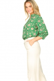 ba&sh |  Blouse with print Panama | green  | Picture 6
