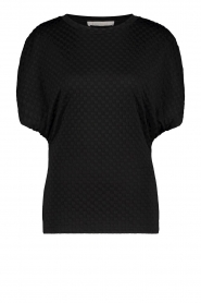 Freebird |  Top with checkered print Giada | black  | Picture 1