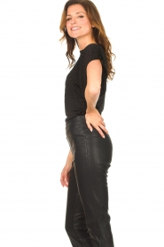 Freebird |  Top with checkered print Giada | black  | Picture 5