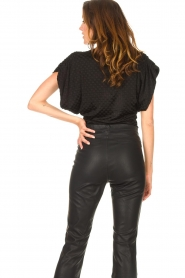 Freebird |  Top with checkered print Giada | black  | Picture 6