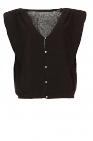 ba&sh |  Top with shoulder pads Loni | black  | Picture 1