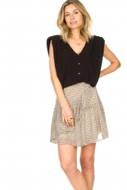 ba&sh |  Top with shoulder pads Loni | black  | Picture 5