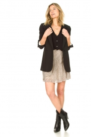 ba&sh |  Top with shoulder pads Loni | black  | Picture 3