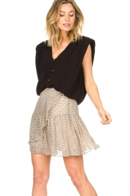 ba&sh |  Top with shoulder pads Loni | black  | Picture 2