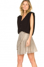 ba&sh |  Top with shoulder pads Loni | black  | Picture 4