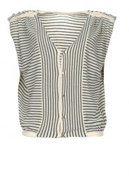 ba&sh |  Top with shoulder pads Loni | natural  | Picture 1