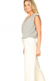 ba&sh |  Top with shoulder pads Loni | natural  | Picture 7