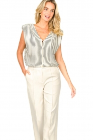 ba&sh |  Top with shoulder pads Loni | natural  | Picture 5