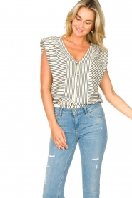 ba&sh |  Top with shoulder pads Loni | natural  | Picture 10
