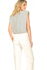 ba&sh |  Top with shoulder pads Loni | natural  | Picture 8