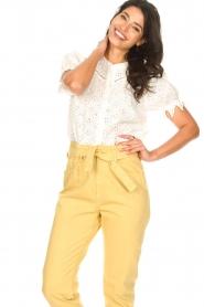 ba&sh |  Cotton broderie blouse Birkin | white  | Picture 4