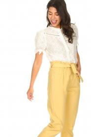 ba&sh |  Cotton broderie blouse Birkin | white  | Picture 5