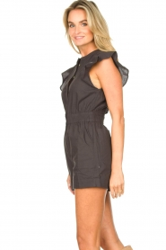 ba&sh |  Cotton playsuit with ruffles Cecile | black  | Picture 8