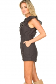 ba&sh |  Cotton playsuit with ruffles Cecile | black  | Picture 7