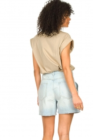 ba&sh |  High waist denim shorts Josh | blue  | Picture 5